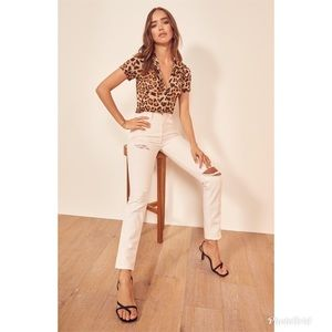 Reformation Julia High Waist Cogarette Pants